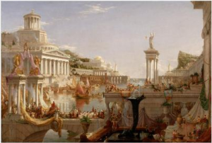 Thomas Cole's painting The Course of Empire: Consummation