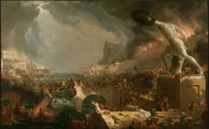 Cole's painting The Course of Empire: Destruction