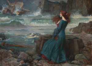 Waterhouse's painting of Miranda--The Tempest