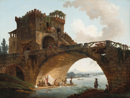 Hubert Robert's painting of the Salario bridge