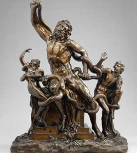 Image of bronze sculpture of Laocoon