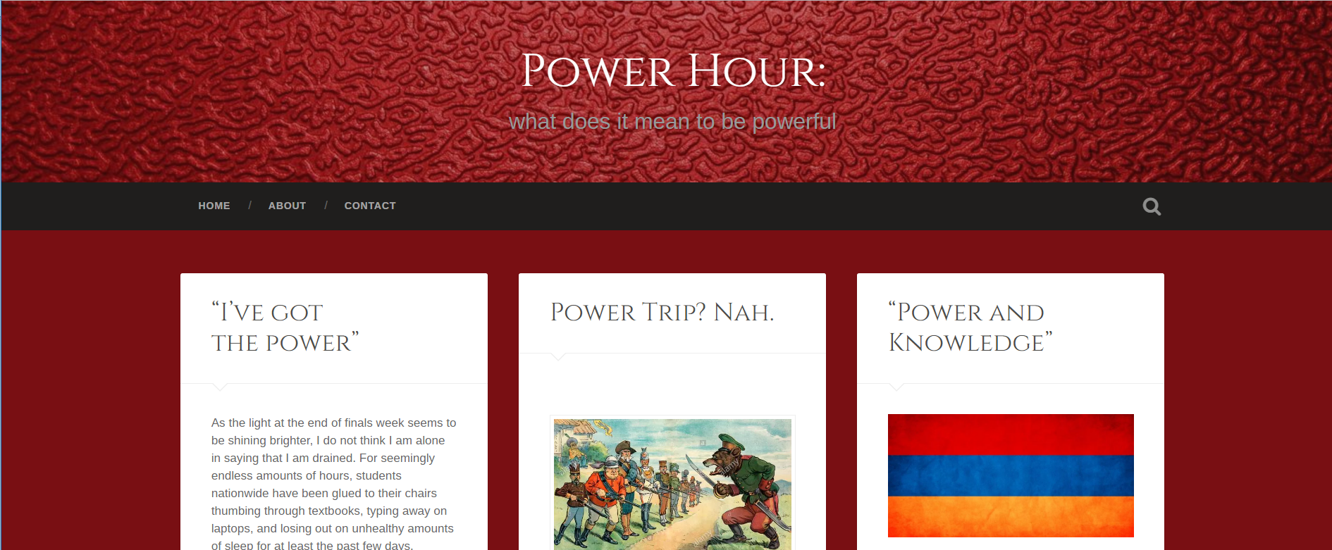 home page of Hayk Kosain's blog