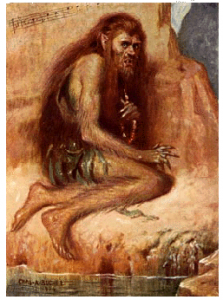 Charles Buchel's image of Caliban, 1904