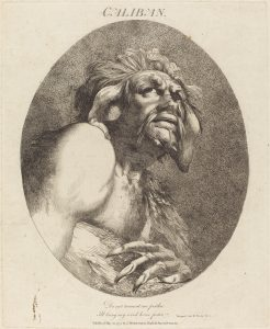 Engraving of Caliban 1775