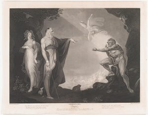 Full version of a lithograph of Fuseli's Enchanted Island--Before the Cell of Prospero