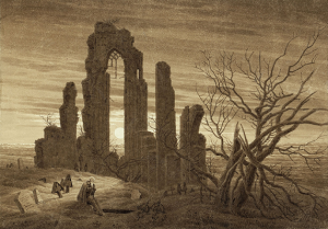 Caspar David Friedrich's painting Winter -- Night -- Old Age and Death