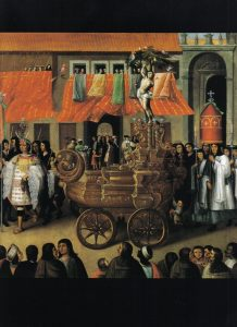 Painting of the Procession of Corpus Christi, San Sebastián, c. 1675