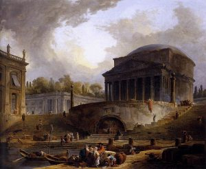 Hubert Robert's painting of the ruined port of Ripetta