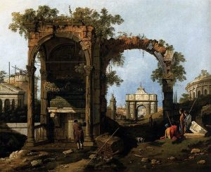 Capriccio with Classical Ruins, by Canaletto