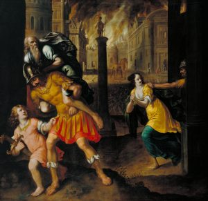 Aeneas and his Family Fleeing, by Gibbs