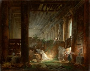 A Hermit Praying, by Hubert Robert