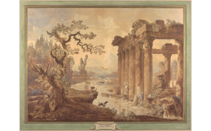 Landscape with Ruins, by Hubert Robert