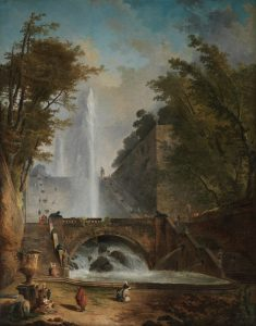 Stair and Fountain by Hubert Robert