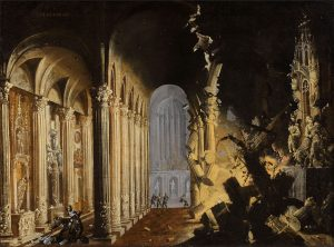 Explosion of a Cathedral, by François de Nomé, early 17th century