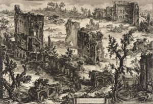 View of the Baths of Titus, by Piranesi