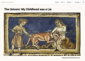 Image of a student webpage on unicorns