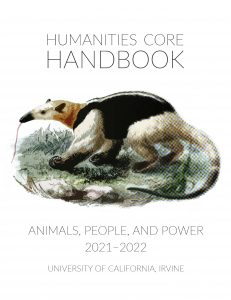 Image of the 2021 handbook cover with an anteater